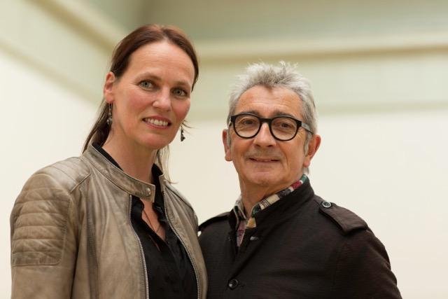 iket Kunstprijzen vakjuryleden 2014 en 2015: Cora Bos-Kroese en Gérard Lemaitre
